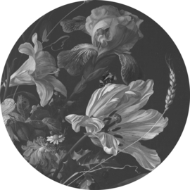 "Behangcirkel Golden Age Flowers ""Jan Davidsz de Heem (1670)"" - KEK Amsterdam Wonderwalls CK-010"