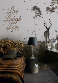 Fotobehang LIVE LAUGH LOVE - Windmill Avenue 6332010