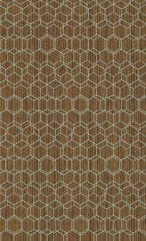 BRUIN HEXAGON BEHANG - BN Wallcoverings Dimensions 219626