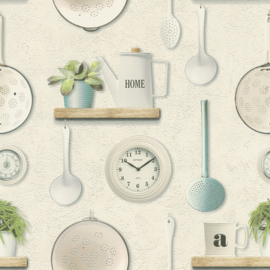 KEUKEN BEHANG - Rasch Deco Relief 307108
