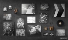 Fotobehang BLACK OUT (L) - Vanilla Lime Wallpaper Mural 014101