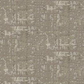 BRUIN GROEN ABSTRACT ZIJDE BEHANG - Dutch Embellish DE120095