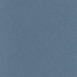 WARM BLAUW LINNENLOOK BEHANG - Caselio Linen 68526460