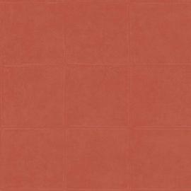 ORANJE/ROOD GESTIKT LEDERLOOK BEHANG - ARTE Atelier CAMPO 21042