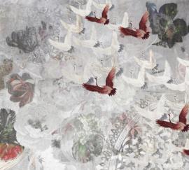 Fotobehang FLY AWAY (M) - Vanilla Lime Wallpaper Mural 014372