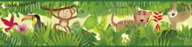 JUNGLE DIEREN BEHANGRAND - AS Creation Lovely Kids 403725