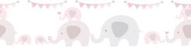 FEESTENDE OLIFANTEN BEHANGRAND - AS Creation Lovely Kids 403749