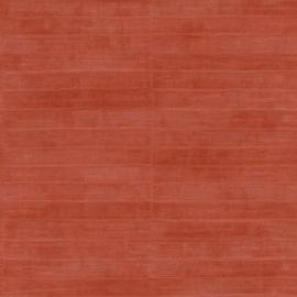 STEENROOD GLANZEND PALINGLEER BEHANG - Rasch Club 418507