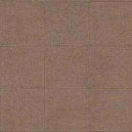 BRUIN GESTIKT LEDERLOOK BEHANG - ARTE Atelier CAMPO 21045
