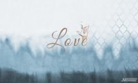 Fotobehang ROCKSTAR LOVE (L) - Vanilla Lime Wallpaper Mural 014149