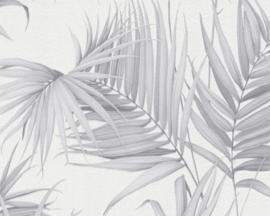 GRIJS PALMBLAD BEHANG - Michalsky Dream Again 365054