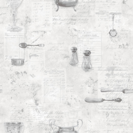 SERVIESGOED BEHANG - Noordwand Kitchen Recipes G12293