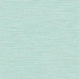 LICHT TURQUOISE RAFFIA STREEP BEHANG - Caselio WARA 69586400