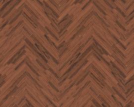 HOUTMOTIEF VISGRAAT BEHANG - Bruin Brons -  AS Creation Versace 4