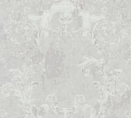 GRIJS ZILVER BAROK ORMANENTEN BEHANG - AS Creation History of Art 37653-1