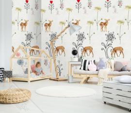 SWEET DEERY FOTOBEHANG - KidsWalls Abby & Bryan INK7240