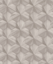 BRUIN BEIGE GEOMETRISCH BEHANG - BN Wallcoverings Textured Stories 218415