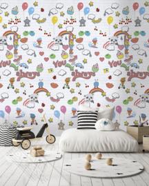 GRAFFITI BABY FOTOBEHANG - KidsWalls Abby & Bryan INK7236