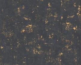 GOUD ZWART BETONLOOK BEHANG - AS Creation TRENDWALL 2307-82