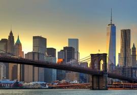 Fotobehang 00148 Brooklyn Bridge At Sunset