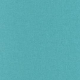 TURQUOISE LINNENLOOK BEHANG - Caselio Linen 68526623