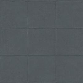 DONKER GRIJS/BLAUW GESTIKT LEDERLOOK BEHANG - ARTE Atelier CAMPO 21040