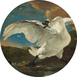 """Behangcirkel De bedreigde zwaan """"Jan Asselijn (1650)"""" - KEK Amsterdam Wonderwalls CK-004"""