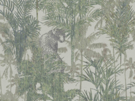 PANTER TUSSEN DE PALMBOMEN BEHANG - BN Wallcoverings Panthera 220100