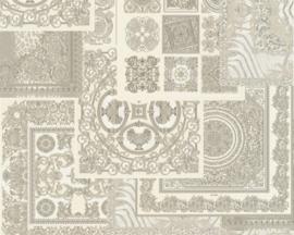 KLASSIEK TRADITIONEEL BAROK BEHANG -  Zilver Grijs - AS Creation Versace 4