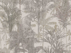 PANTER TUSSEN DE PALMBOMEN BEHANG - BN Wallcoverings Panthera 220102