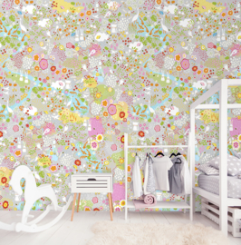 SECRET GARDEN GREY FOTOBEHANG - Kidswalls Kay & Liv INK7020