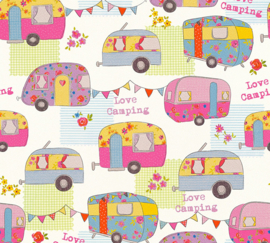 """Love Camping"" CARAVAN BEHANG - AS Creation Boys & Girls 6 34345-3"