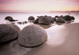 Fotobehang 00285 Moeraki Boulders At Oamaru