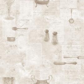 SERVIESGOED BEHANG - Noordwand Kitchen Recipes G12291