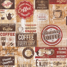 AMERICAN DINER STYLE KOFFIE BEHANG - AS Creation Il Decoro 334801