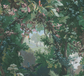 VOGELS IN HET BOS BEHANG - AS Creation History of Art 37652-1
