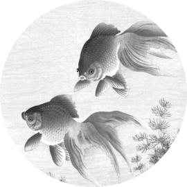 """Behangcirkel Goldfish """"Ohara Koson (1900-1936)"""" - KEK Amsterdam Wonderwalls CK-005"""