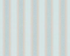 GROEN BLAUW STREPEN BEHANG - AS Creation Neue Bude 2.0 361672