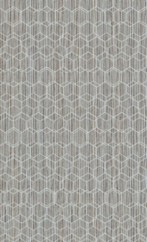 GRIJS GROEN HEXAGON BEHANG - BN Wallcoverings Dimensions 219620
