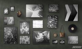 Fotobehang BLACK OUT (L) - Vanilla Lime Wallpaper Mural 014103