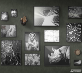 Fotobehang BLACK OUT (M) - Vanilla Lime Wallpaper Mural 014102