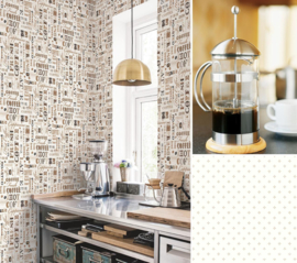 KOFFIE BEHANG - Noordwand Kitchen Recipes G12052