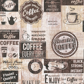 AMERICAN DINER STYLE KOFFIE BEHANG - AS Creation Il Decoro 334803