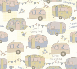 """Love Camping"" CARAVAN BEHANG - AS Creation Boys & Girls 6 34345-2"