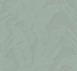BLAUW GROENE BANANENBLADEREN BEHANG - ARTE Selva MUSA 75003A
