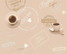 KOFFIE BEHANG - AS Creation Simply Decor 943082