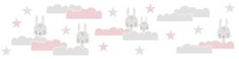 KONIJNTJES IN DE WOLKEN BEHANGRAND - AS Creation Lovely Kids 403726
