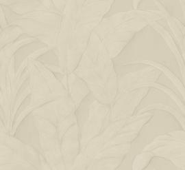 BEIGE GRIJZE BANANENBLADEREN BEHANG - ARTE Selva MUSA 75002A