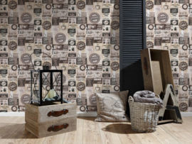 KOFFIE BEHANG - AS Creation Simply Decor 334803