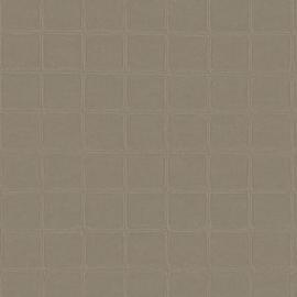 GRIJS BRUIN GESTIKT LEDERLOOK BEHANG - ARTE Atelier ALMA 21021